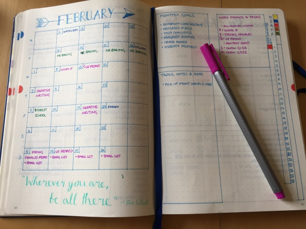 bujo-monthly-spread
