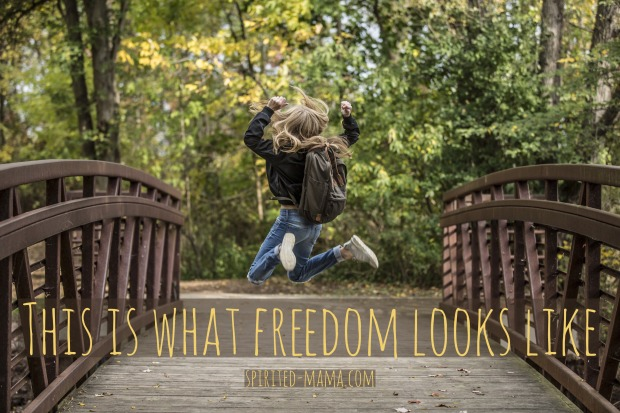 educational freedom, creativity, outdoors, learning through living
