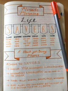 bujo bullet journal Miracle Morning Hack
