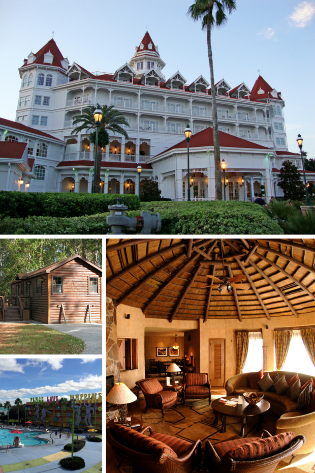 wdw resorts,hotels, Grand Floridian, Animal Kingdom Lodge, Pop Century, Wilderness Lodge Cabins