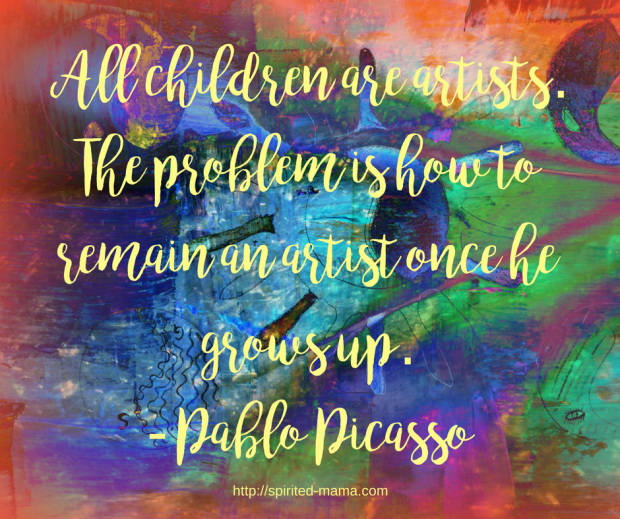 Picasso famously said that all children are artists. But is it inevitable that they cease to be?