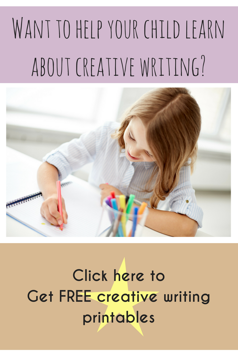 Get free creative writing printables for kids, part of a home education or homeschool curriculum