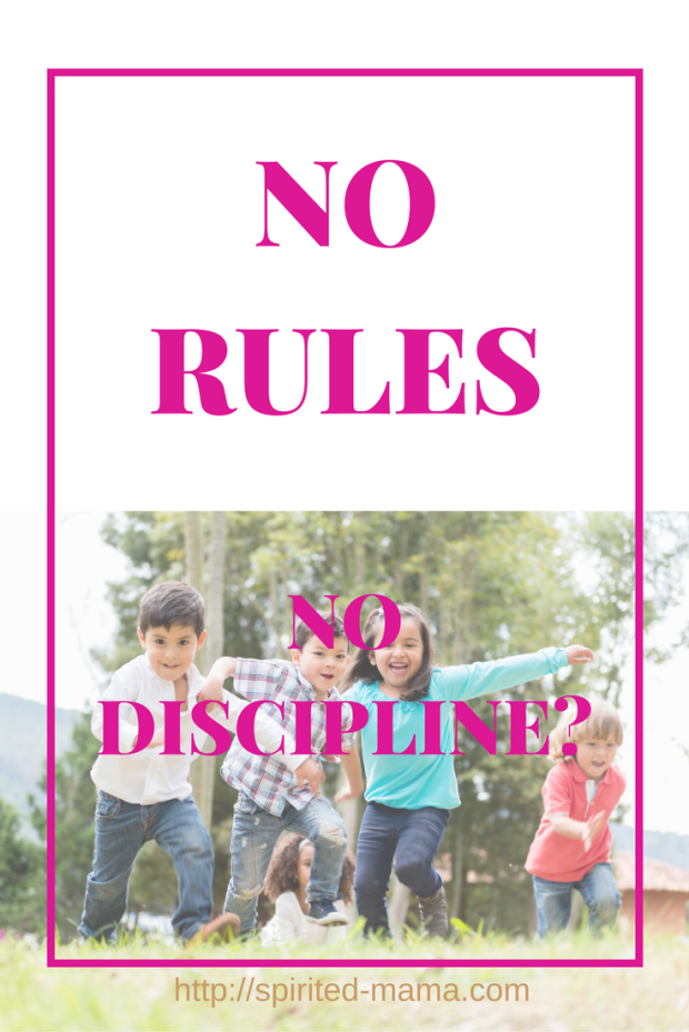 No rules parenting, or unschooling, does not mean no boundaries or no discipline